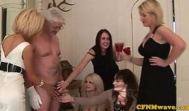 Group Sex - Classy Cfnm Female Domination Matures Wank Man Off