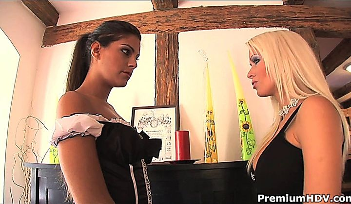 Lesbian - Lovely Brunette French Maid - Еxcellent Service
